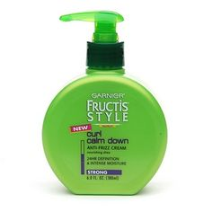 Garnier Fructis Curl Calm Down Cream: I like this because it's CHEAP and it works.