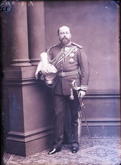 King Edward VII when Prince of Wales. Photograph by Alexander Bassano in 1880.