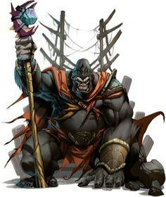 Gorilla tribal chief