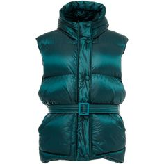 Ienki Ienki Michelin Puffer Vest ($1,069) ❤ liked on Polyvore featuring outerwear, vests, green, green puffy vest, lightweight vest, green puffer vest, blue waistcoat and puffy vests