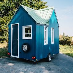 """The """"Barn Chic"""" tiny house; a 300 sq ft tiny house on wheels. Featured on Tiny House Nation and now offered for sale!"""