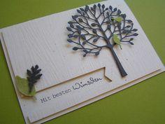 Schöne Karte mit Memory Box Stanze & Holzprägung  mit einer Impression Plate von der Firma Papertrey Ink