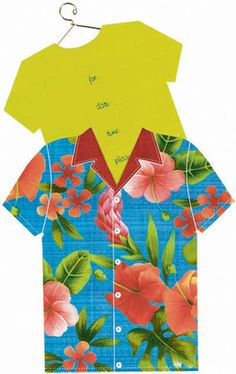 DIY Hawaiian shirt invitation idea