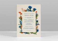 Pirrip Press screenprinted wedding invitations thistle and autumn foliage border scottish wedding ultramarine burnt orange autumn colours.jpg