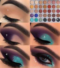 Gorgeous Makeup: Tips and Tricks With Eye Makeup and Eyeshadow – Makeup Design Ideas Makeup Eye Looks, Eye Makeup Steps, Skin Makeup, Eyeshadow Makeup, Teal Eye Makeup, Teal Eyeshadow, Makeup Light, Makeup Brushes, Makeup Remover