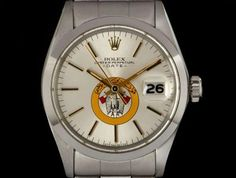 Rolex Steel Date Gents Silver Military UAE Crest Eagle Dial. Rolex Date, Eagle Logo, Popular Watches, Plastic Glass, Swing Tags, Oyster Perpetual, Abu Dhabi, Fashion Watches, Dating