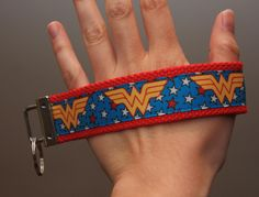 Blue Wonder Woman Keychain Wristlet. $6.00  Find Bonzai Gifts on Facebook for more!