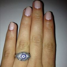 Manicure with #ring - Brittny Gastineau