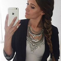 Glamorous Over The Top Statement Necklace #fashion #jewelry #necklace #ootd - 27,90 € @happinessboutique.com