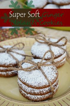 Gluten Free Ginger Molasses Cookies - super soft and full of spice!