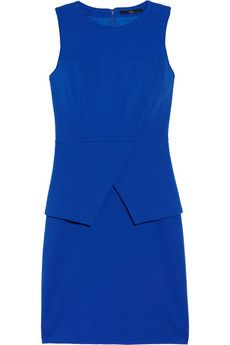 Lovely and chic peplum dress by Tibi. In cobalt blue, bold color for bold women! $269.50
