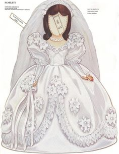 Paper Dolls~Scarlett - Bonnie Jones - Álbuns da web do Picasa Paper Clothes, Doll Clothes, Paper Toys, Paper Crafts, Origami, Vintage Playmates, Scarlett O'hara, Gone With The Wind, Vintage Paper Dolls