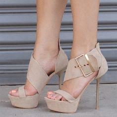 Exquisite Suede Buckle Dress Sandals
