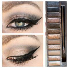 Amazing eye makeup looks. Urban Decay Eyeshadow Palette, Naked Palette, Urban Decay Makeup, Beautiful Eye Makeup, Pretty Makeup, Makeup Looks, Free Makeup, Makeup Tips, Makeup Ideas