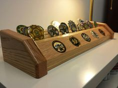 Challenge Coin Display - Woodworking creation by Tim