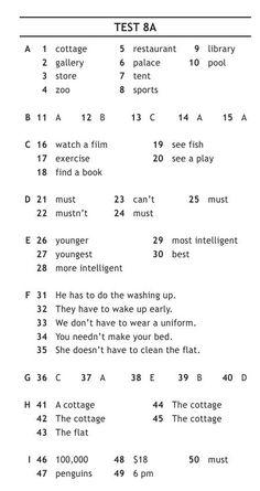 """Решебник ГДЗ на Test Booklet Spotlight 6 класс (Ответы на тесты """"Английский в фокусе"""")"""