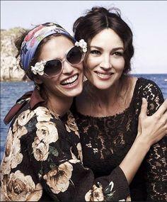 Bianca Balti e Monica Bellucci per Dolce & Gabbana p/e 2013 adv campaign