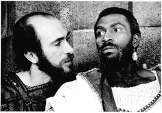 Tony Amendola as Iago and Harold Surratt as Othello in Othello, 1984. #calshakes40th