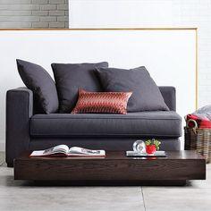 M s de 1000 ideas sobre sof s de color gris oscuro en pinterest paredes de color gris claro for Sofa moderne marron gris