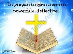 0514 james 516 the prayer of a righteous person powerpoint church sermon Slide01  http://www.slideteam.net/