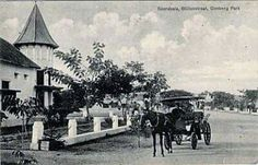 """Soerabaja, Bilitonstraat, Goebeng Park"" (dekat dengan Taman Biliton -& Taman Lansia - jl. Raya Gubeng) Circa 1906 -1935 (Collections KITLV)"