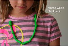 Kid DIY: Morse Code Necklace