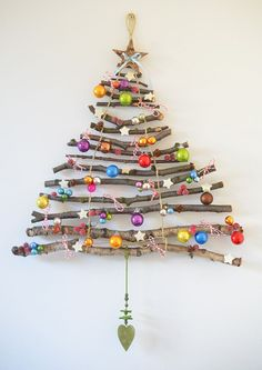 Image result for christmas tree on the wall