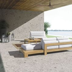 Floor covering / porcelain stoneware / residential / commercial / tile ISEO GRIS BUSH-HAMMERED by Inalco INALCO