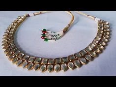 (DIY)HOW TO MAKE PARTY WEAR NECKLACE//HANDMADE JEWELLERY//HOORIYA STYLE... - YouTube