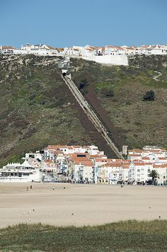 The funicular railway in Nazare, Portugal