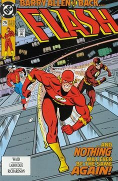 The cover to Flash #75 (1993), art by Ty Templeton