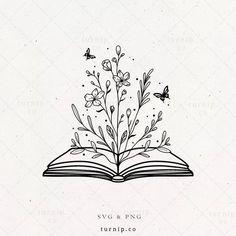 Doodle Drawings, Art Drawings Sketches, Easy Drawings, Drawings Of Flowers, Flowers Drawn, Tattoo Design Drawings, Pencil Art Drawings, Cute Tattoos, Flower Tattoos