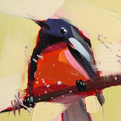 Painted Redstart no. 6 original bird oil painting by prattcreekart