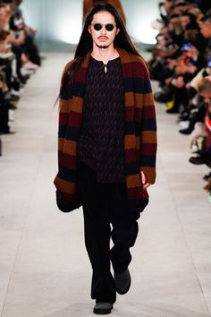Seen on the catwalk : the oversize cardigan from #OliverSpencer