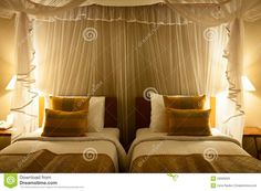 Double Bed In The Hotel Room Stock Image - Image of holiday, architecture: 29080029 Hotel Bed, New Beds, Double Beds, Royalty, Hollywood, Curtains, Room, Free, Home Decor
