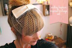 Shine Trim: Featured Wedding DIY: Audrey Hepburn Cage Veil