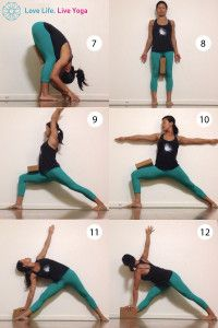 yoga for knees with a block and a wall