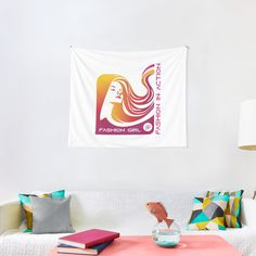 Tapestry Design, Wall Tapestry, Thing 1, Textile Prints, Sell Your Art, All Print, Vivid Colors, Cool Designs, Girl Fashion