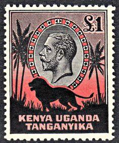 Kenya Uganda & Tanganyika 1935-37 GV NH £1 SG 123 Cat £275