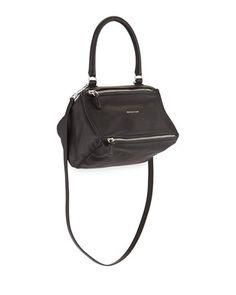 Pandora+Small+Leather+Shoulder+Bag,+Black+by+Givenchy+at+Bergdorf+Goodman.