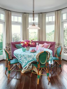 diff curains though  Decorating with Pastels - Designer Alison Kandler | hookedonhouses.net