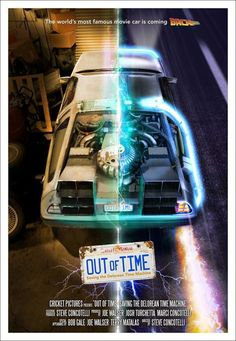 """Poster for """"Saving the DeLorean Time Machine."""""""