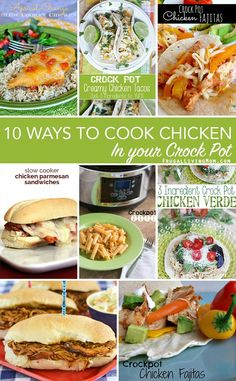 Crockpot Chicken recipes: Love chicken but tired of the same old, same old?? Check out these easy chicken recipes you can just throw into the crockpot, then come home to a yummy meal.