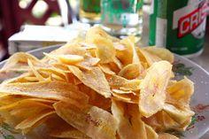 Great #Cuban #snack: Chicharritas de Platano  #Cuba #Travel #Food