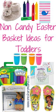 are you in need of ideas for your toddlers easter basket? Don't want to give them candy? Check out these awesome non candy easter basket ideas for your toddler. Functional easter gifts gifts 19 Non Candy Easter Basket Ideas for Toddlers - One Sharp Mama Easter Gift For Adults, Easter Baskets For Toddlers, Easter Gift Baskets, Easter Basket For Babies, Easter Activities For Toddlers, Diy Ostern, Toddler Gifts, Gifts For Toddlers, Easter Crafts