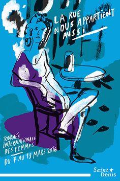 Formes Vives, affiche et programme pour la Journée internationale des femmes, ville de Saint-Denis, affiche 120x176cm et 40x60cm, programme 12x17cm impression municipale offset, février 2016
