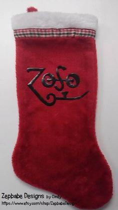 Led Zeppelin Zoso Christmas Stocking by ZepbabeDesign on Etsy