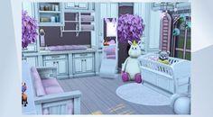 Girly Pink Nursery ¡Mira esta habitación en la galería de Los Sims 4! -