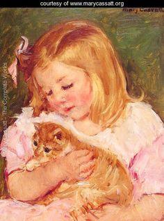 Sara Holding A Cat Mary Cassatt