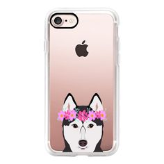 Husky with Blue Eyes happy siberian husky funny cell phone case with... ($40) ❤ liked on Polyvore featuring accessories, tech accessories, iphone case, blue iphone case, apple iphone case, iphone cases, iphone hard case and iphone cover case
